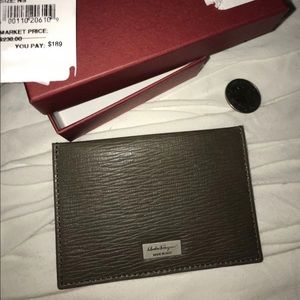 Authentic Salvatore Ferragamo wallet card case